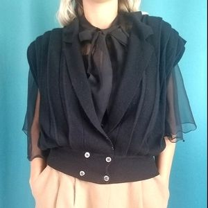 VINTAGE Evan Picone Wool Angora Sweater Vest